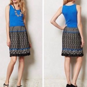 Anthro Girl From Savoy blue ruffle sweater dress